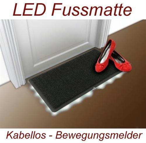 LED beleuchtete Fussmatte kabellos mit Bewegungsmelder - 19,99€ inkl. Versand