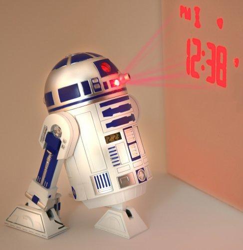 Star Wars - Clone Wars Jugend-3d-Wecker in Plastik mit R2-D2 Sounds @ amazon.de