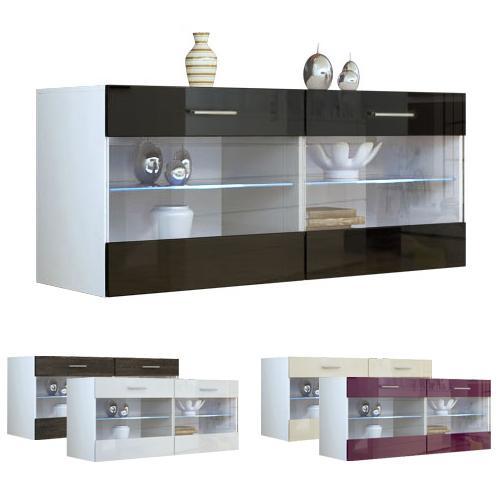 Sideboard TV Board Möbel Sandy V2 Weiß in Hochglanz oder Naturtönen