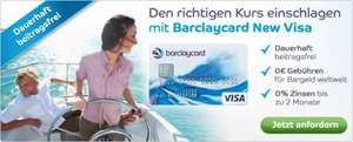 40 € Cashback für Barclaycard New Visa