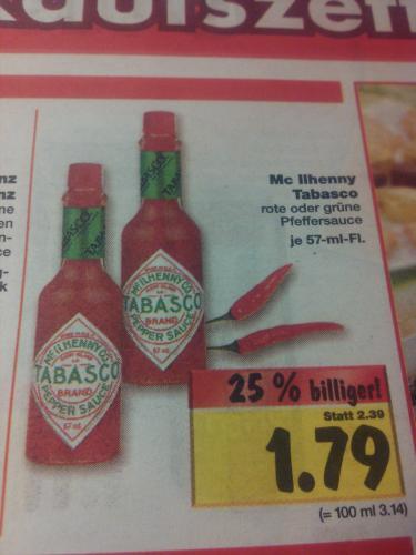 [Offline: Kaufland] Tabasco rot oder grün 57ml für 1,79€