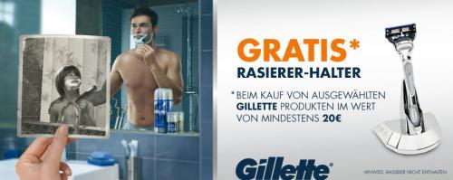 [Amazon] GRATIS Gillette Rasierer-Halter oder Retro-Aufbewahrungsbox ab 20 €