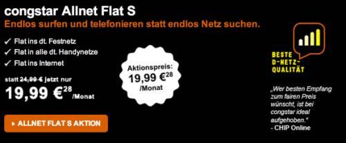ALLNET Flatrate im D1 Netz für Monatlich 19,99€ (-2 Monate Grundgebühr)
