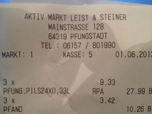 [SEHR LOKAL] 3 Kästen Pfungstädter Bier (Pils, Export, Radler, Weizen, Alkoholfrei) zum Preis von 2 bei EDEKA in 64319 Pfungstadt