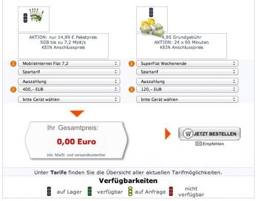 5GB Vodafone Internet-Flat mit 40€ Gewinn @Handybar.de