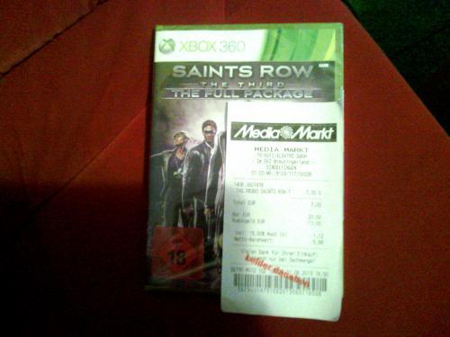 Saints Row -The Third- the Full Package XBOX 360 für 7€ @ Mediamarkt Sindelfingen