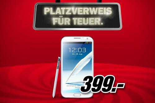 Samsung Galaxy Note 2 (Titan-Grey oder Marble-White) 399,- bei MM Online