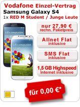Red M Student / Young für rechnerisch 27,90€ mtl. mit Samsung Galaxy S4, N7105 Note II LTE oder HTC One zu 0€