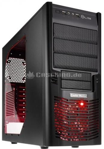 Cooler Master Elite 430 (ATX, Seitenfenster, beleuchteter Frontlüfter in rot oder grün) @ ZackZack
