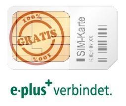 E-Plus Simkarte mit 10€ Guthaben komplett gratis