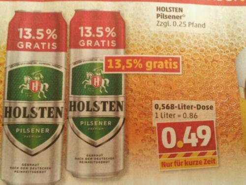 Holsten Pilsener 0,568 Liter / 0.49€