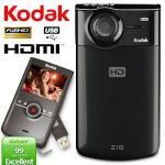Kodak Zi8 FullHD 1080p SDHC-Pocket-Videokamera für 86€ @iBOOD