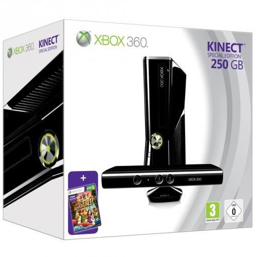 Xbox 360 Konsole (250GB ) mit Kinect Sensor und Kinect Adventures