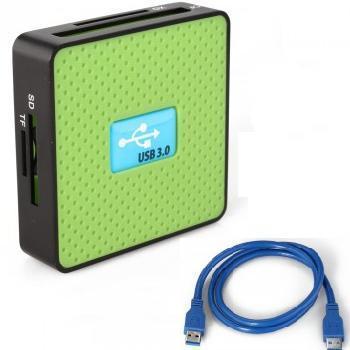 USB 3.0 Kartenlesegerät Kartenleser bis zu 5Gbps mit USB-Kabel für 10,53€ inkl. Versand