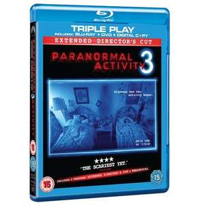 Blu-ray - Paranormal Activity 3 (Triple Play, 2 Discs) für €5,25 [@Wowhd.co.uk]