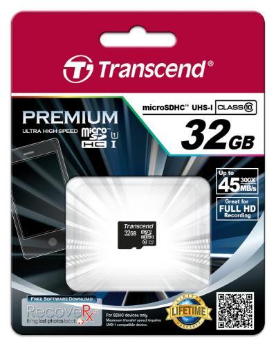Transcend Premium 32GB microSDHC Speicherkarte Class 10 für 20€ @Amazon