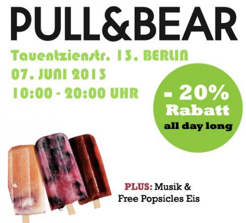 BERLIN:Pull&Bear Shoperöffnung mit 20% Rabatt auf alles!