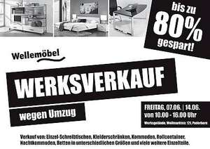 paderborn werksverkauf bei wellem bel restposten bis zu 80 g nstiger. Black Bedroom Furniture Sets. Home Design Ideas