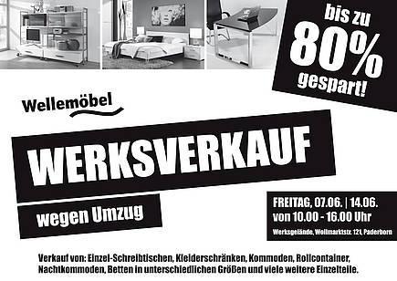 paderborn werksverkauf bei wellem bel restposten bis zu. Black Bedroom Furniture Sets. Home Design Ideas