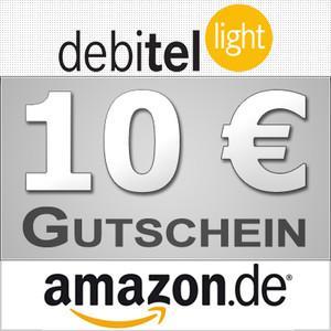 Wieder da! Debitel-Light SIM-Karte mit 10€ Startguthaben und 10€ Amazon Gutschein