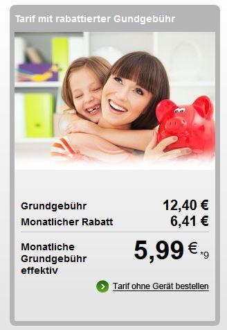 Talkline Talk Easy 100 Aktion e-plus, 500MB+100 Min+3000 SMS @etelon.de / modeo.de
