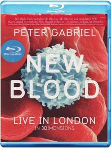 [amazon.co.uk ] Peter Gabriel - New Blood / Live in London 3D Blu-ray für ~18,23