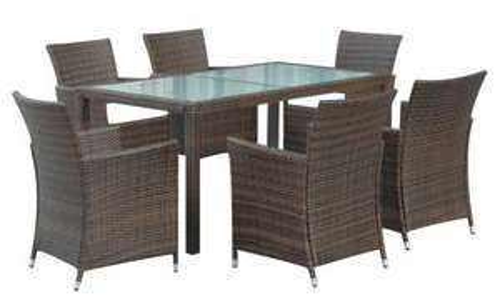 13tlge Rattan Gartengarnitur mit 6 Sesseln und 1 Tisch für nur 31,99 EUR inkl. Lieferung