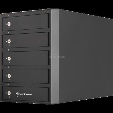 Sharkoon 5-Bay RAID Box (Platz für 5x 3.5Zoll HDD, USB 3.0, eSATA) @ ZackZack