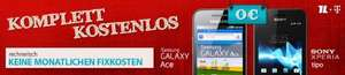 Komplett Kostenlos Tarif + Galaxy Ace / Sony Tipo / Wii Mini / Apple TV ( 2 Verträge Eteleon Talkline )