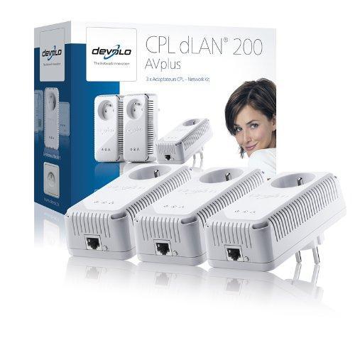 devolo dLAN 200 AVplus Network Kit  3 x 200 Mbit für 65,60 € @Amazon.fr