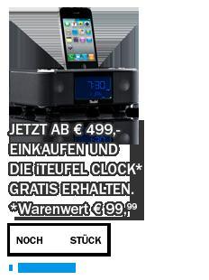 iTeufel Clock im Wert von 100€ gratis bei Einkauf ab 500€ am 07.06.