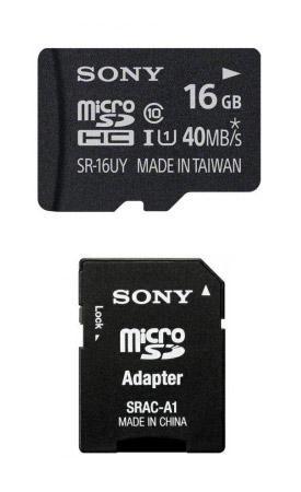 Sony High Speed microSDHC Speicher Karte 16 GB class 10 + SD Adapter für 12€ @Getmobile