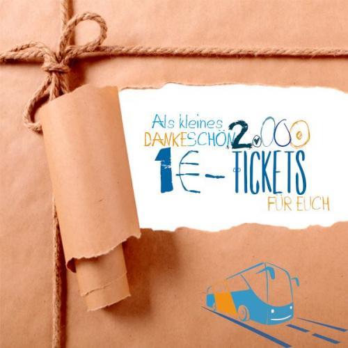 Flixbus: 2.000 Tickets für 1€