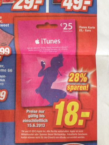 [expert] iTunes Karte 25€