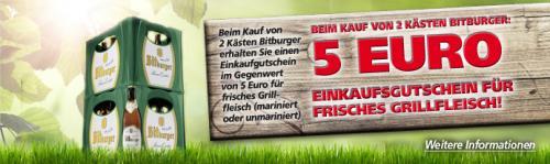 [Offline] REAL: 2 kästen Bitburger für 9.99 pro Kasten + 2 Grillhandschuhe + 5 Eur grillfleisch gutschein