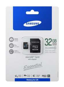 Samsung Original microSDHC 32GB Class 10 Speicherkarte mit Adapter (MB-MPBGAEU) @Amazon