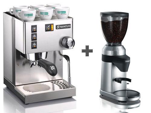 Rancillio Silvia Siebträger (Einkreiser) + Kaffeemühle Graef CM800