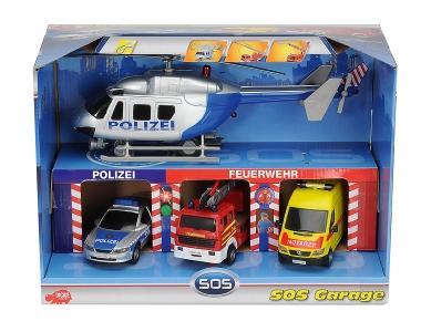 Dickie™ - S.O.S. Garage,  Spielset mit 4 Fahrzeugen bei Amazon (Prime-Kunde)