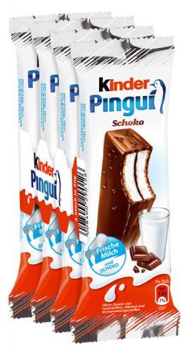 Kinder Pingui 4er Packung für 0,77€. Nur diesen Montag im Rewe