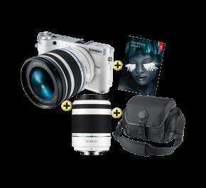 (Schweiz) Samsung NX 300 18-55 mm + 50-200 mm + Tasche + Adobe Lightroom 4