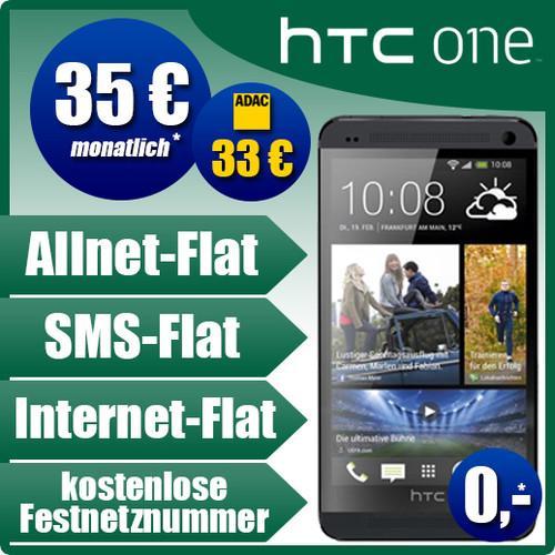 HTC ONE 32GB incl. Base all Net Vertrag