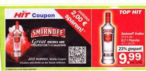 Smirnoff Red Label Vodka 0,7 Liter nur 7,99 € durch Coupon @ HIT München