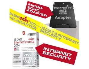 microSDHC Adapter + G Data Internet Security 2014 OEM [MEIN PAKET]