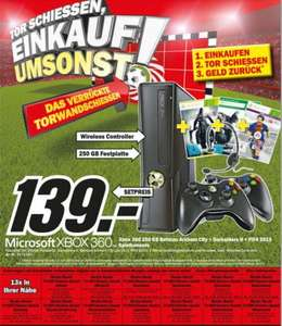 [Lokal Hamburg] Media Markt Xbox 360 250 GB Bundle mit 2 Controller, Batman Arkham City, Darksiders 2, FIFA 13, Headset