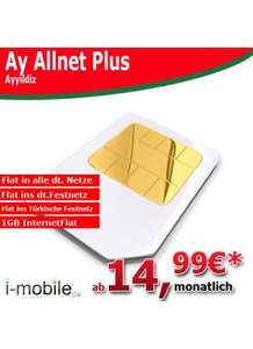 AyYildiz: Allnet Flat inkl. Türkisches Festnetz + 1GB Internet Flat effektiv 19,78€