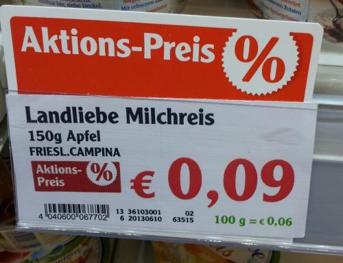 LOKAL Globus Maintal: Landliebe Milchreis für 0,09€