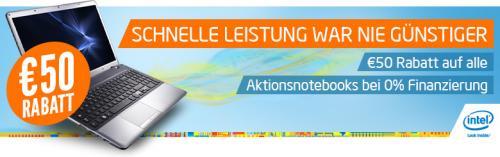 50 Euro Rabatt auf div. Notebooks bei NB.de (durch 0% Finanzierung)