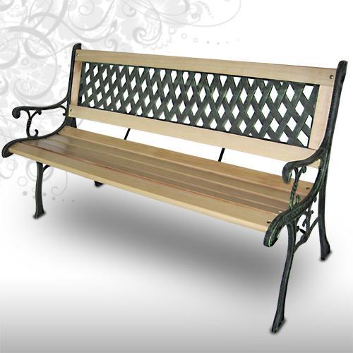 Garten Sitzbank aus Holz und Gusseisen für 32€ @Ebay Jago24