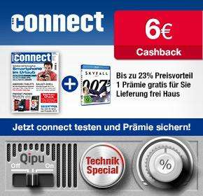 3 Ausgaben Connect mit rechnerisch 4,10€ Gewinn durch Cashback & Tankgutschein