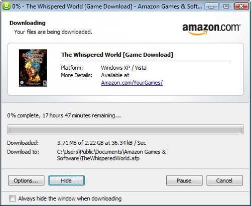 """US-Adventure """"The Whispered World"""" als PC Download für $4.99 auf www.amazon.com"""